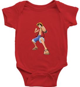 Infant Baby Rib Bodysuit Jumpsuit Romper Print One Piece Luffy Straw Hat Pirate