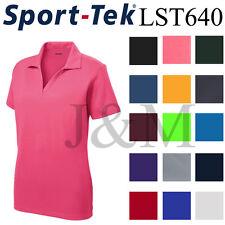 Sport Tek LST640 Womens Dri-Fit Performance Polo Casual Golf Shirt Dry