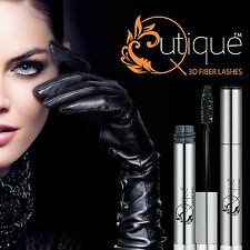 QUTIQUE 3D Fiber/Fibre Lash Natural Mascara False Eyelashes BLACK