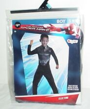 Boys Spiderman 2 Electro Costume Jumpsuit Halloween Cosplay Small Size 6 Marvel