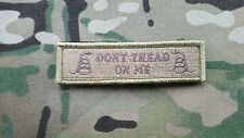 "Multicam Dont Tread On Me Flag Morale Patch 1""x4"" Oath Keeper Green Tan"