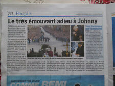 JOURNAL DU DECES DE: JOHNNY HALLYDAY - 11/12/2017 - ENTERREMENT DE SAMEDI - L'ES