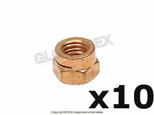 BMW E34 Exhaust Manifold to Cylinder Head 6 mm Copper Lock Nut Set of 10 O.E.M.