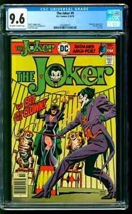The Joker 9 CGC 9.6 NM+ Catwoman app Last issue Ernie Chan cover DC 1976