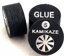 Kamikaze Black Layered Cue Tips  14 MM  (Soft) (2 Tips)  Fast Shipping....