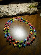 Halskette Regenbogen BEAD in BEAD Perlen rund facettiert FARBENFROHES Collier