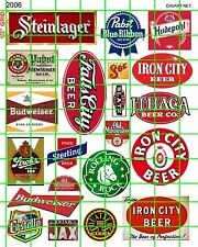 2006 DAVE'S HO DECALS BEER TAVERN BAR ADVERTISING SIGNS FOR BUILDINGS STORES