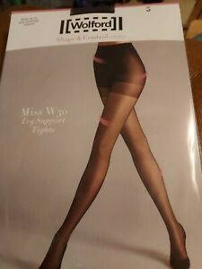 Wolford Miss W30 Leg Support Tights, Small, black