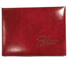 C R Gibson Wedding Guest Book - Deep Red New Made In USA 1032 Guests