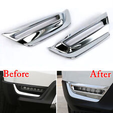 For Honda CRV 17 Four-wheel Drive Car Front Fog Light Lamp Trim Cover Chrome ABS