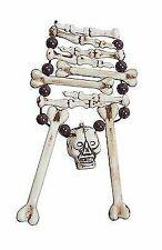 Skeleton Bone Necklace Halloween Skull Pirate Fancy Dress Accessory