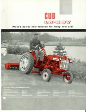 Ih International Cub Lo Boy Tractor With Fast Hitch Color Dealer Brochure Booklet