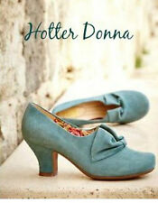 NEW HOTTER DONNA SUEDE SHOES. AQUA. SIZE 7.5. 7 1/2 EXF WIDE FIT. RRP £85. BNWB.
