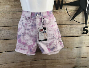 Signature by Levi Strauss Junior's High Rise Cut Off Shortie Shorts Size 5/W27