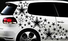 93 Sterne Star Auto Aufkleber Set Sticker Tuning Hibiskus Wandtattoo Tribel Star