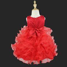 Flower Girl Dress Kids Baby Party Wedding Birthday Princess Christening Dresses
