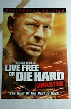 LIVE FREE OR DIE HARD COVER ART PHOTO MOVIE 5x7 FLYER MINI POSTER (NOT A movie )