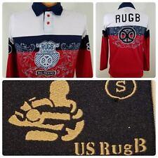 VINTAGE US RugB Surfboard Big Rider 1934 Summer Polo Shirt Sz Small S   Loc: 526