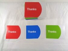 New listing eBay Branded Thank You Postcards Multi-Pack Red Green Blue