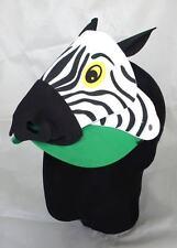 Zebra Zoo Animal Farm Jungle Foam Kid School Party Fancy Dress Visor Hat Cap