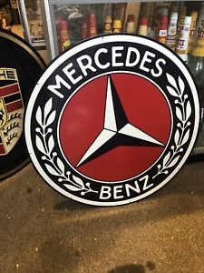 Mercedes Benz Round Large Repro Sign