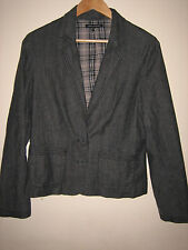 A LOVELY STYLISH LAURA ASHLEY GREY  JACKET SIZE 14 BUTTON FASTENER
