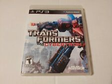 Transformers: War for Cybertron (Sony PlayStation 3, 2010) PS3 no manual