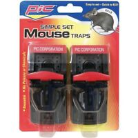 PIC PMT-2 Simple Mouse Trap (2-Pack), Reusable, No poisons or chemicals