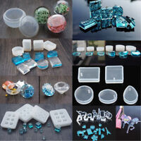 7Pcs/Set Silicone Molds Resin Necklace Jewelry Pendant Casting DIY Making Tools