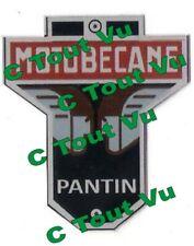 PLAQUE PANTIN MOTOBECANE Noir et Rouge - Visage Marron - VIN PLATE PANTIN