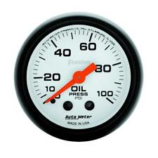 "Auto Meter Oil Pressure Gauge 5721; Phantom 0 to 100 psi 2-1/16"" Mechanical"