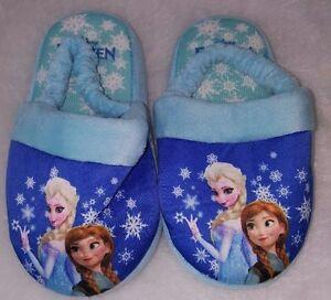 Disney Girls Multi Color Frozen Sling Back Slippers Size L 9 10