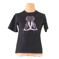 Fendi T-Shirts Black Grey Woman Authentic Used L2246