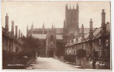 Somerset; Wells Cathedral RP PPC, 1938 PMK, By Photochrom, Redirected to Cardiff