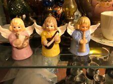 Adorable Vintage 1970s W Germany Goebel Angel Bell Ornaments Total Of 3