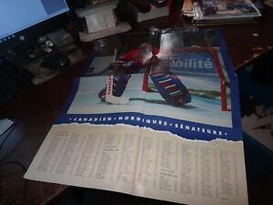montreal canadiens hockey nhl club patrick roy poster hof goaler calendar 1994
