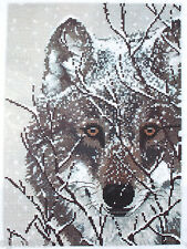 Winter Wolf Counted Cross Stitch Kit Designed By Shane Dimmick Candamar Designs