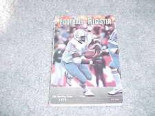 1979 NFL Football Register Media Guide Houston Oilers Earl Campbell Cover