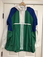 Adidas Men's Sport ID Training Anorak Windbreaker Jacket Bold Green XL CV3270