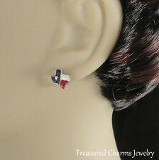 STATE OF TEXAS Earrings - Silver Post Stud Earrings - Austin Dallas Texan *NEW*