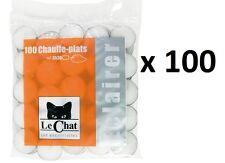 LOT 100 BOUGIES CHAUFFE PLAT BLANCHE