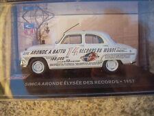 MODELLINO SIMCA ARONDE  ELYSEE DES RECORDS 1957  SCALA 1/43