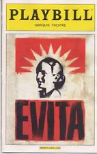 EVITA Broadway Preview Playbill+ad RICKY MARTIN ELENA ROGER MAX VON ESSEN [Mint}