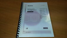 SONY NEX 5N  DIGITAL CAMERA FULLY PRINTED INSTRUCTION MANUAL USER GUIDE 95 PAGES