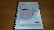 Sony Nex 5n Cámara Digital totalmente manual de instrucciones impreso Guía de usuario 95 páginas