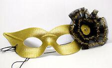 Gold Party Masquerade Ball Burlesque Carnival Face Mask