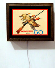 Winchester 50 Rifle Duck Hunting Advertising Retro Vintage  Light Lighted Sign