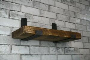 Steel Brackets - Pair Handmade Scaffold Board Retro Industrial Heavy Duty 225m