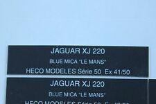 EK Heco modele 1 étiquette autocollante numéroté JAGUAR XJ 220 blue mica Le Mans