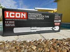 ICON 3/8'' DRIVE PROFESSIONAL Compact Click Type Torque Wrench TW38-200 NEW